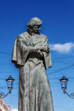 Sculpture Gogol writer in St. Petersburg, Russia Royalty Free Stock Photo