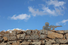 Sculpture on the Golan Heights Stock Image