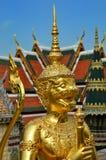 Golden guard in bangkok Stock Image