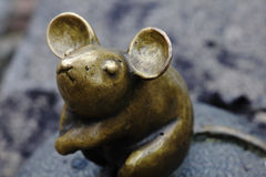 Sculpture Golden Mouse Royalty Free Stock Photography