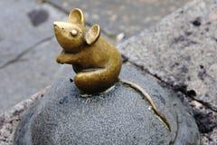 Sculpture Golden Mouse Stock Image