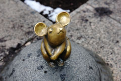 Sculpture Golden Mouse Royalty Free Stock Photo