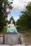 Sculpture on the Grand Chinese Bridge in Alexander Park,  Tsarsk Stock Photos