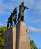 Sculpture of Grand Duke Gediminas Stock Photos