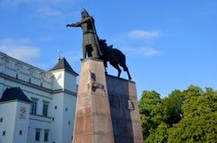 Sculpture of Grand Duke Gediminas Royalty Free Stock Images