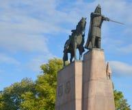 Sculpture of Grand Duke Gediminas stock image