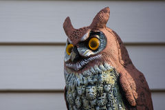 Sculpture of a Great Horned Owl Stock Photography