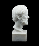 Sculpture grecque en Aristotle de philosophe Photographie stock libre de droits