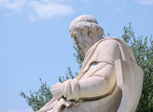 Sculpture in Greece. Marble sculpture Socrates of the University of Athens Royalty Free Stock Photos