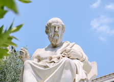 Sculpture in Greece. Marble sculpture Socrates of the University of Athens Royalty Free Stock Photography