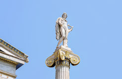 Sculpture in Greece. Marble sculpture in the University of Athens Royalty Free Stock Photos