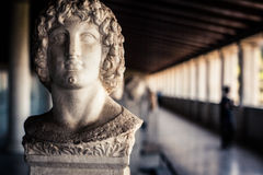 Sculpture of a Greek Man Royalty Free Stock Image
