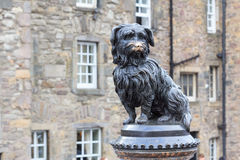 Sculpture of Greyfriars Bobby. A Skye Terrier who in the 19th century guarded the grave of his owner for 14 years Stock Photography