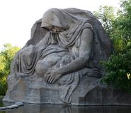 Sculpture Grieving mother in Volgograd. Stock Image