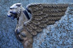 Sculpture of griffin royalty free stock image