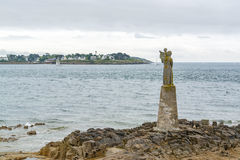 Sculpture at the Gulf of Morbihan. Near Pointe de Kerpenhir, a natural harbour on the coast of the Departement of Morbihan in the south of Brittany, France Royalty Free Stock Photography