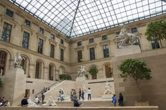 Sculpture hall of the Louvre museum Paris France Stock Photo
