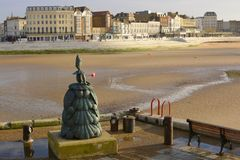 Sculpture on harbour side. Margate. Kent. England Royalty Free Stock Image