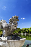 Sculpture of harpy in the Island Fountain,Boboli Gardens. Florence, Italy Stock Image