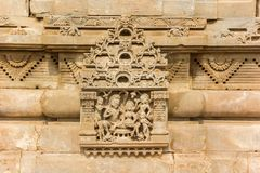 Sculpture at the Harshat Mata temple in historic village Abhaneri