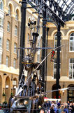 Sculpture  in Hays Galleria. The Navigators by David Kempston in Hays  Galleria  formally known as Hays  Wharf Stock Photos