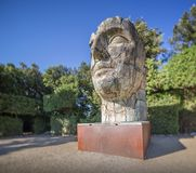 Sculpture of head in Boboli Gardens, Florence royalty free stock photography