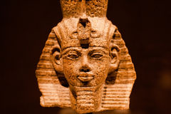 Sculpture of head of egyptian king Amenhotep III Stock Photography