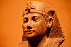Sculpture of head of egyptian king Amenhotep III Royalty Free Stock Photos