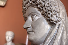 Sculpture of a head Royalty Free Stock Photo