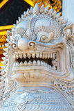 Sculpture head of a lion, Thailand Stock Image