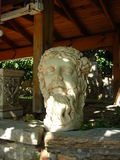 Sculpture of the head of Zeus. At the market in Turkey. Ancient sculpture Stock Image