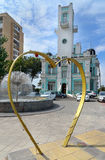 Sculpture heart near Registry Office in Astrakhan Royalty Free Stock Images