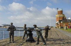 Sculpture Helsingborg en cabestan Photographie stock libre de droits