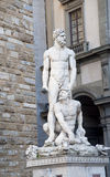 The sculpture Heracles kills the robber and the cannibal Kakus. Europe, Italy, Florence. Sinoriya Square. The sculpture Heracles kills the robber and the Royalty Free Stock Photography