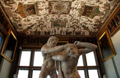 Sculpture of Hercules and Nessus from Uffizi Gallery in Florence, Italy Stock Photos