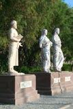 Sculpture of heredotos, artemisia and maussollos Royalty Free Stock Photos