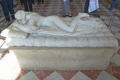Sculpture of Hermaphrodite at the Louvre Museum, Paris, France Royalty Free Stock Image