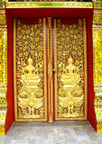Sculpture high door thai Royalty Free Stock Photography