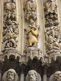 Sculpture in high relief, Cathedrale Notre Dame Stock Photography