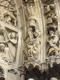 Sculpture in high relief, Cathеdrale Notre Dame Royalty Free Stock Image