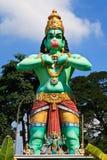 Sculpture of a hindu god Royalty Free Stock Photo
