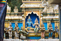 Sculpture of a Hindu temple Royalty Free Stock Images