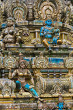 Sculpture of a Hindu temple Royalty Free Stock Photography