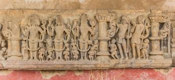 Sculpture at the historic step well of Abhaneri