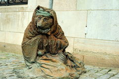 Sculpture of homeless vixen Royalty Free Stock Images