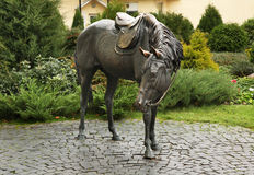 Sculpture of  horse in Baranovichi. Belarus Royalty Free Stock Image