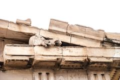 Sculpture of the horse`s head on parthenon`s frieze of Athens Acropolis Greece Stock Image