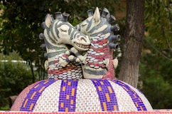 Sculpture horses Royalty Free Stock Photography