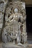 Sculpture at Hoysaleswara temple Royalty Free Stock Photography
