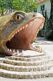 Sculpture of a huge fish in Yalta zoo Stock Photo